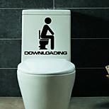 Недорогие -настенные наклейки Наклейки на стены стиль туалет и ванная украшения ПВХ стены стикеры