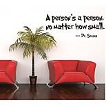 Недорогие -человек нет человек, независимо от того, насколько мал цитатой Наклейка на стену декоративные zooyoo8077 Съемный стикер стены