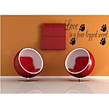 cheap -Love Is A Four-Legged Word DIY Quote Wall Decals Zooyoo8066 Living Room Removable Vinyl Wall Stickers Home Decoration