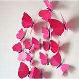 Недорогие -Трехмерная бабочки моделирования стены стикеры (12шт)
