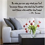 Недорогие -быть тем, кто вы, что вы чувствуете, цитата наклейки для стен zooyoo8075 декоративные наклейки стены декора съемное виниловые обои