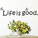 cheap -Life Is Good DIY Quote Wall Decals Zooyoo8174 Removable Vinyl Wall Stickers Home Decoration