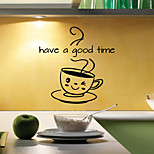 cheap -Wall Stickers Wall Decals Style Have A Good Time English Words & Quotes PVC Wall Stickers