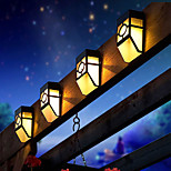 2-LED Warm White Mission-Style Solar Deck Accent Lights