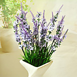 cheap -1 Branch Polyester Lavender Tabletop Flower Artificial Flowers