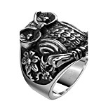 Men's Knuckle Ring Jewelry Punk Personalized Stainless Steel Alloy Geometric Owl Jewelry For Halloween Street