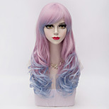 Women Synthetic Wig Natural Wave Purple Halloween Wig Carnival Wig Costume Wig
