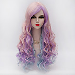 Wigs for Women Pink Purple Blue Mixed Long Curly Costume Wigs Cosplay Wigs