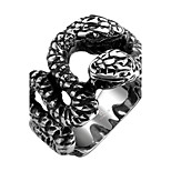 Men's Knuckle Ring Jewelry Punk Personalized Stainless Steel Alloy Geometric Snake Jewelry For Halloween Street