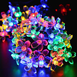 Christmas Oriental Cherry bulb led solar outdoor decoration all over the sky star of lamps 4.8M  20LED