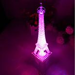 10*10*15CM Christmas Push Button Switch Romantic Monochrome Colorful Light The Eiffel Tower Light LED Lamp