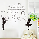 cheap -9206 The hubble-bubble Wall Stickers Kiss Goodnight For Living Room for Kid DIY Home Decorations Wall Decals