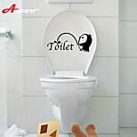 cheap -New Cartoon  Waterproof Wall Sticker For Toilet Bathroom Home Decor Vinyl Wall Decal