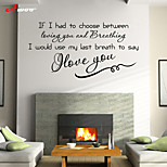 cheap -AWOO® Love  You Home  Wall Sticker DIY Home Decorations Quotes Vinyl Wall Decals Wall Mural Art
