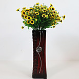 Недорогие -1 Филиал Полиэстер Ромашки Букеты на стол Искусственные Цветы Украшение дома Свадебные цветы