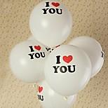 cheap -10Pcs Heart-shaped Balloon Wedding Balloon Printing Photos Marry Fashion Balloon Love Balloon