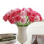 Недорогие -1 Филиал Полиэстер Гвоздика Букеты на стол Искусственные Цветы