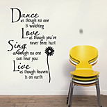 cheap -Dance love sing live Wall Quotes Decal Removable stickers decor Vinyl Art