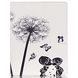 cheap -Case For Apple iPad Air 2 iPad mini 4 Card Holder Wallet with Stand Full Body Dandelion Hard PU Leather for iPad Pro 9.7'' iPad Air 2