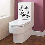 Недорогие -Стикеры Стикер для ванной Modern ПВХ Бумага Крепеж на поверхности