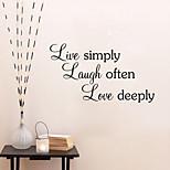 Недорогие -Слова и фразы Наклейки Простые наклейки Декоративные наклейки на стены, Винил Украшение дома Наклейка на стену Стена
