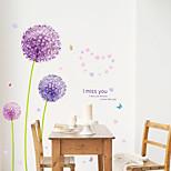 ботанический / Романтика / Цветы / Пейзаж Наклейки Простые наклейки,pvc 50*70CM