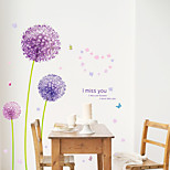 Purple Dandelion Wall Decals Romance / Florals / Landscape Wall Stickers Plane Wall Stickers,pvc 50*70CM