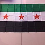 Недорогие -90 * 150 см, бегущие торговый 1шт СИРИЯ флага SY SYR новый национальный флаг Сирийскую Арабскую Республику (без древка)