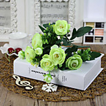 cheap -1 Branch Polyester Camellia Tabletop Flower Artificial Flowers