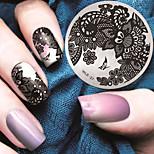 Недорогие -2016 г. Последние шаблон тиснения изображения пластины версия мода модель кружева цветок искусства ногтя