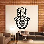 9382 Hamsa Hand Wall Decal Vinyl Fatima Yoga Vibes Sticker Fish Eye Decals Indian Buddha Home Decor Lotus Mural