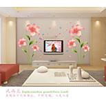 Romance Pink Lilies  Wall Stickers  Fashion / Florals Wall Stickers Plane Wall Stickers,pvc 60*90cm
