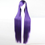 Недорогие -аниме косплей парик фиолетовый длиной 100 см проволоки высокая температура прямые волосы