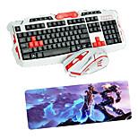 usb 2.4 Gaming-drahtlose Tastatur-Maus und Pad-Set optische Multimedia-Profi-Set wasserdicht