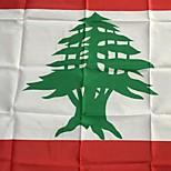 Недорогие -3x5 ноги Lebanon флаг 90 * 150см флаги мира события Фестиваль вечеринка парад лифтовые интерьера