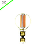 bofa g80 6 w levou lâmpadas decorativas de filamento de iluminação decorativas domésticas de design novo (85v-265v)