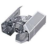 Недорогие -3D пазлы Пазлы Металлические пазлы Игрушки 3D Tie Fighter Своими руками Металлический сплав Металл Куски