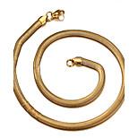 Муж. Женский Ожерелья-бархатки Змея Титановая сталь 18K золото Мода Бижутерия Назначение Повседневные