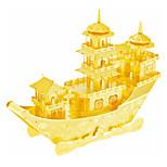 Недорогие -3D пазлы Пазлы Металлические пазлы Игрушки Корабль 3D Своими руками Нержавеющая сталь Металлический сплав Металл Дети Куски