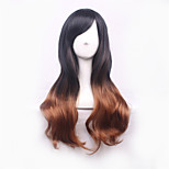 Black Lolita Harajuku Ombre Wig Synthetic Wig Pelucas Pelo Natural Cheap Anime Cosplay Wigs Perruque Synthetic