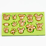 Mini Cartoon Anger Birds Pig Silicone Mold Polymer Clay Chocolate Sugarcraft Tools Fondant Cake Decorations Color Random