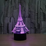 cheap -1 pc 3D Nightlight Dimmable USB Multi Color Plastic 1 Light No Batteries Included 23.0*17.0*4.5cm