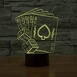 оптическая иллюзия 3d лампа покер и Сита, цвет цвет меняющегося свет ночи