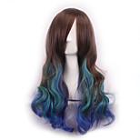 Pelucas Sinteticas Ombre Wig Pelucas Pelo Natural Synthetic Wig Heat Resistant Perruque Cosplay Wigs Curly Peruca