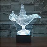 Magic Lamp 3 D Lamp Colorful Originality Projection 3 D Novel  Promotion Product Color-Changing Night Light