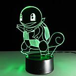 Недорогие -1 ед. 3D ночной свет USB Разноцветный Стекло ABS 1 лампа Батарейки не входят в комплект 22.5*17.0*4.5cm