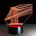 Недорогие -1 ед. 3D ночной свет USB Разноцветный Стекло ABS 1 лампа Батарейки не входят в комплект