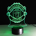 cheap -1 pc 3D Nightlight USB Multi Color Glass ABS 1 Light No Batteries Included 22.0*17.0*4.5cm
