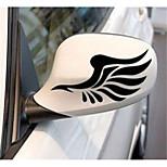 Недорогие -автомобиль зеркало заднего вида с легким бровью вставить светоотражающие наклейки в зеркало заднего вида автомобиля с крыльями