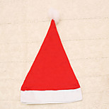 cheap -1pc Ordinary Red Adult Christmas Hat Santa Claus Unisex Cap for Carnival Party Dress